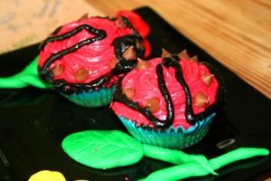 Ladybird Banana Fairy Cakes