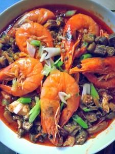 Okro Stew with Prawns
