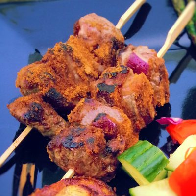 Ghanaian Kebab on Skewers