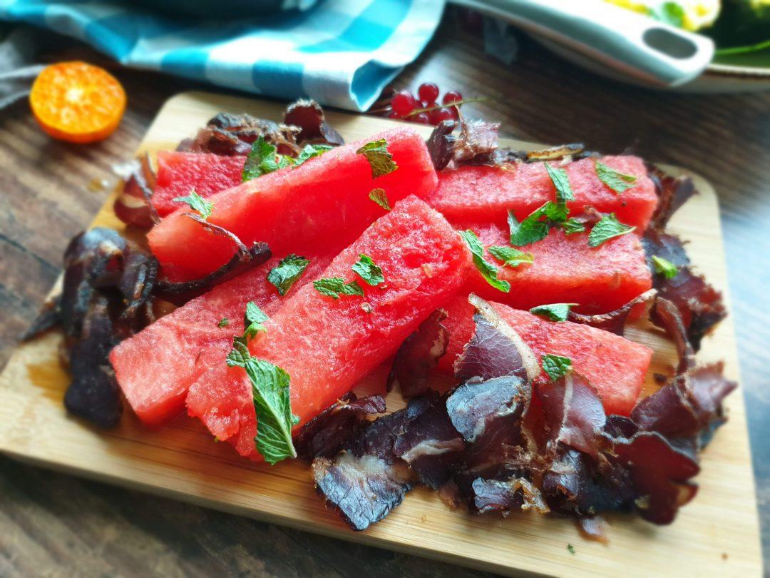 Watermelon and Biltong Salad